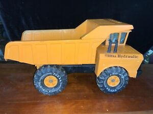 Vintage-1970-s-Mighty-XM-8-975-Tonka-US-Hydraulic-Dump-Truck-Orange