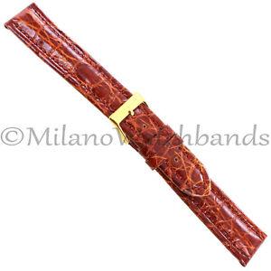 18mm-Milano-Tan-Heavily-Padded-Stitched-Genuine-Crocodile-Mens-Band-Regular-992