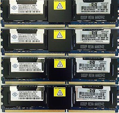 8x4GB 32GB PC2-5300F DDR2 Fully Buffered Server Memory RAM for HP DL140 G3
