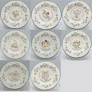 Pfaltzgraff-Winterberry-12-Days-Of-Christmas-Plate-Choice-of-6-or-8-Salad-8-034