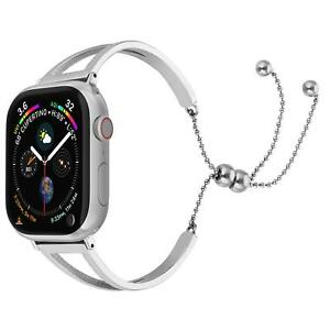 38 40mm Apple Watch Series 5 4 3 2 1 Silver Stainless Steel Wrist Band Strap Usa Ebay