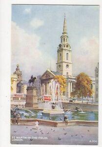 St-Martin-In-The-Fields-London-EWH-Vintage-Art-Postcard-308a