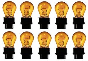 3157NA-Amber-Daytime-Running-Light-Bulbs-Stop-Brake-Turn-Signal-Lamp-3157-x10