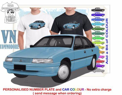 CLASSIC 86-88 VN COMMODORE SEDAN ILLUSTRATED T-SHIRT MUSCLE RETRO SPORTS CAR