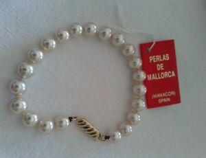 9bffaa9be144 Detalles de PULSERA DE PERLAS DE MANACOR (MALLORCA) con BROCHE