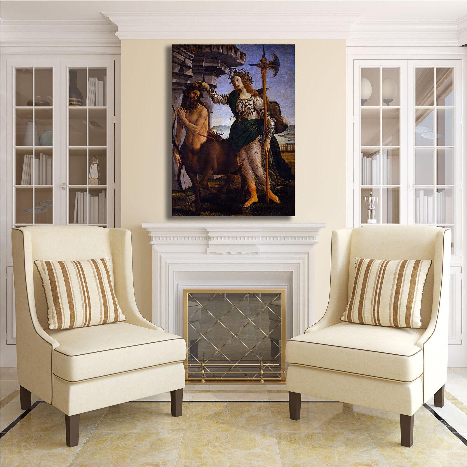 Botticelli Pallade e il centauro quadro stampa tela dipinto telaio telaio telaio arrossoo casa 153b70