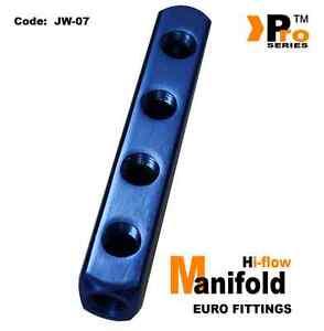 compressor Air line UK SELLER 4 WAY SPLITTER MANIFOLD 1//4 pneumatic