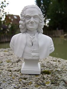 RE0068 § FIGURINE SCULPTURE BLANCHE REPRODUCTION VOLTAIRE ShITTBiG-07212654-127336889