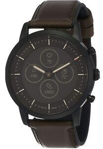 Fossil Men's Hybrid Smartwatch HR Collider (Dark Brown Leather)