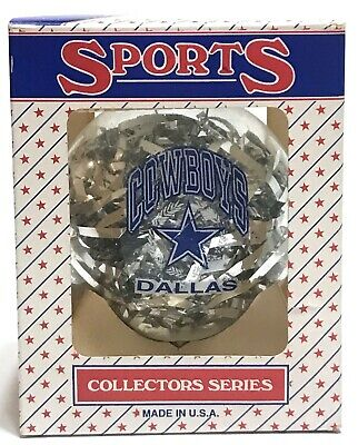 NFL Dallas Cowboys VTG Christmas Tree Glass Ornament ...