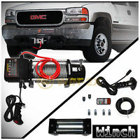 Win-2x 12000lb Dc 12v Electric Recovery Winch Kit W/wireless Remote & Steel Rope