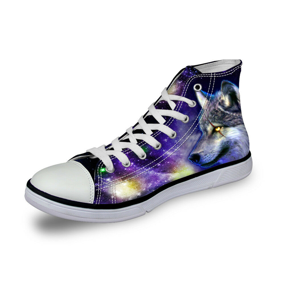 Cool Animal Design Hi Top Canvas shoes Sneaker Mens Casual Boots Funky Trainer