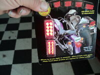 Motorcycle Flashing Brake Lights Accent Lighting Chrome Be Seen Saftey First
