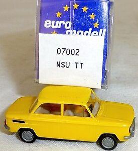 NSU-Tt-Voiture-Particuliere-Jaune-Imu-Modele-Europeen-07002-H0-1-87