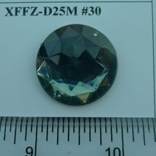 Round Shape Acrylic Stone sewing for Button Flatback plastic stone 25mm 20pcs