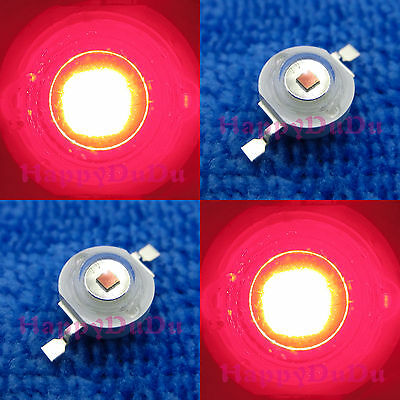 10pcs 1W Red 620nm-630nm High Power LED 50Lm Lamp Bead Light for Plant DIY