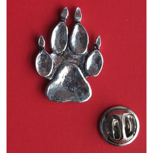 Lapel Badge Dog Paw Print Pin Badge Tie Pin XTSBPA67 English Pewter Animal
