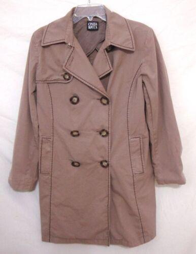 Cinzia ROCCA Italy BOHO Trench Coat Brown Cotton D