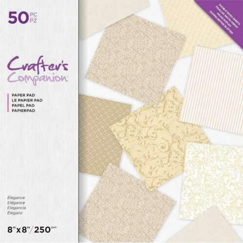 "Crafter/'s Companion Printed Double-Sided Paper Pad 8/""X8/"" Elegance 709650905283"