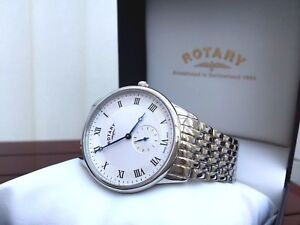 Mens-Rotary-watch-SWISS-MADE-Sapphire-glass-RRP-260-GREAT-GIFT-for-Him-Boxed