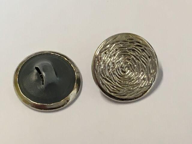 1 Botón 14mm Metal Plástico Plata Color Art
