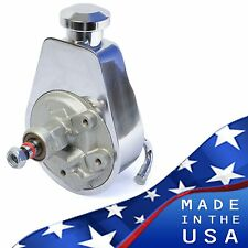 Saginaw Power Steering Pump Chrome Plated Keyway Style Chevy Ford GM Chrysler
