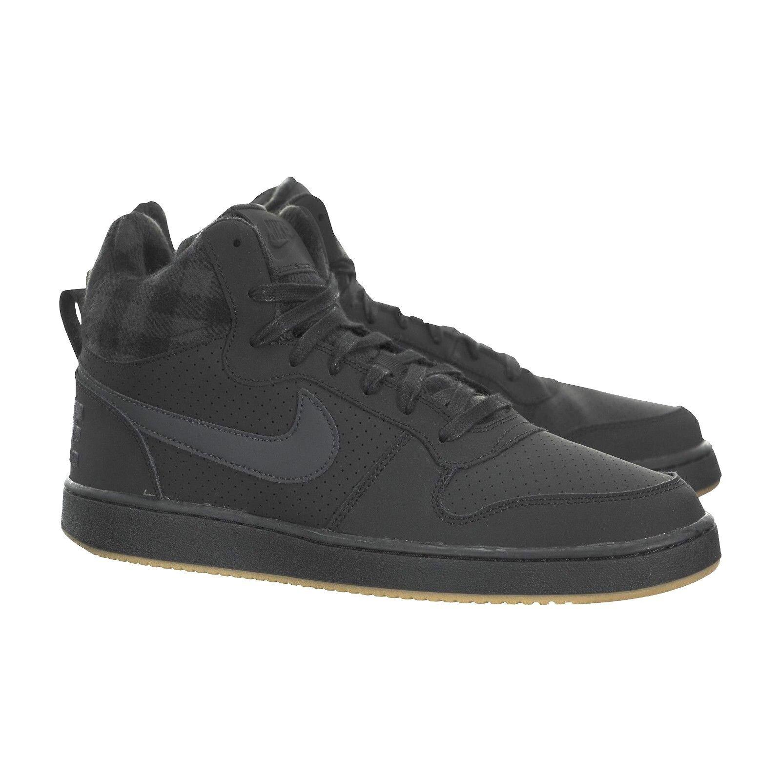 Nike Court Mens Burrough Mid Premium Black/Anthracite-Gum Mens Court Shoes 844884 002 f28886
