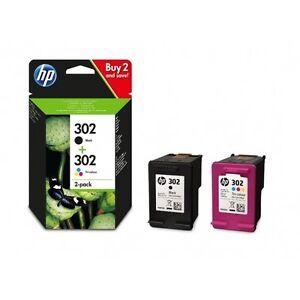 HP 302 Combo Noir/Couleur cartouches d'encre d'origine (X4D37AE) DeskJet 1110