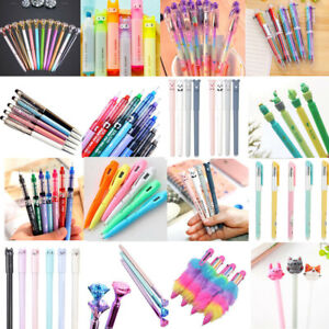 Cute-Gel-Pen-Ballpoint-Colorful-Stationery-Writing-Sign-Child-School-Office-Tool