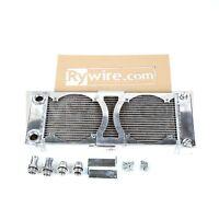 Rywire Custom Tucked Radiator Honda Civic Integra B16 K20 K24 K Swap W/ 8 Fans