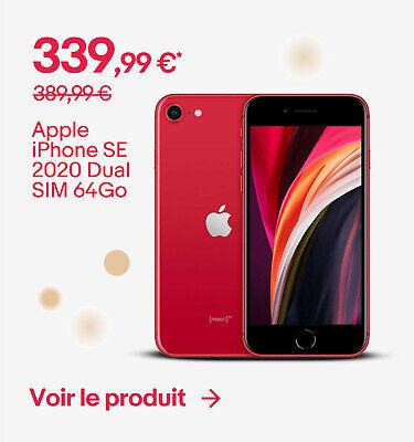 Apple iPhone SE 2020 Dual SIM 64Go - 339,99 €*