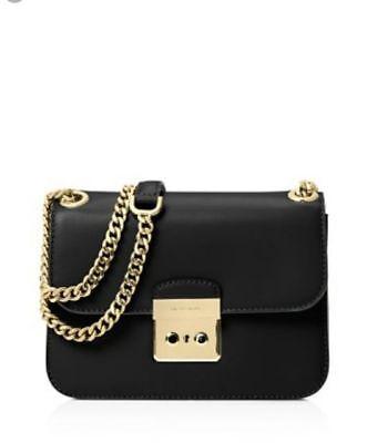 1f3bd700094d11 Michael Kors Women's Crossbody Bag Sloan Editor Medium Chain Shoulder Bag  Black