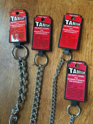 """New Four Paws Metal Dog Chockers for Dogs of all Sizes 10/"""" 12 14 18 20 22 26 28/"""""""