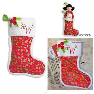 image is loading american girl welliewishers merry stocking set for girls - Girl Christmas Stocking