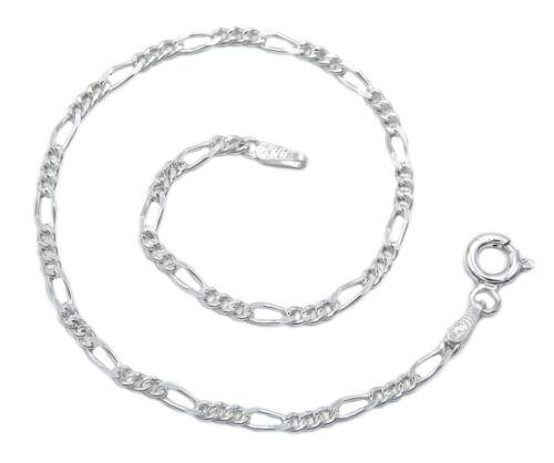Figaroarmband 925 Sterling Silber 2,3mm 17 18 19 cm Figarokette Armband Damen