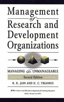 Management of Research and Development Organizations : Managing the Un-ExLibrary