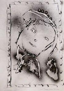 LES-VISAGES-29C17-Faces-Portrait-expressionniste-femme-fille-art-dessin-BELAUBRE