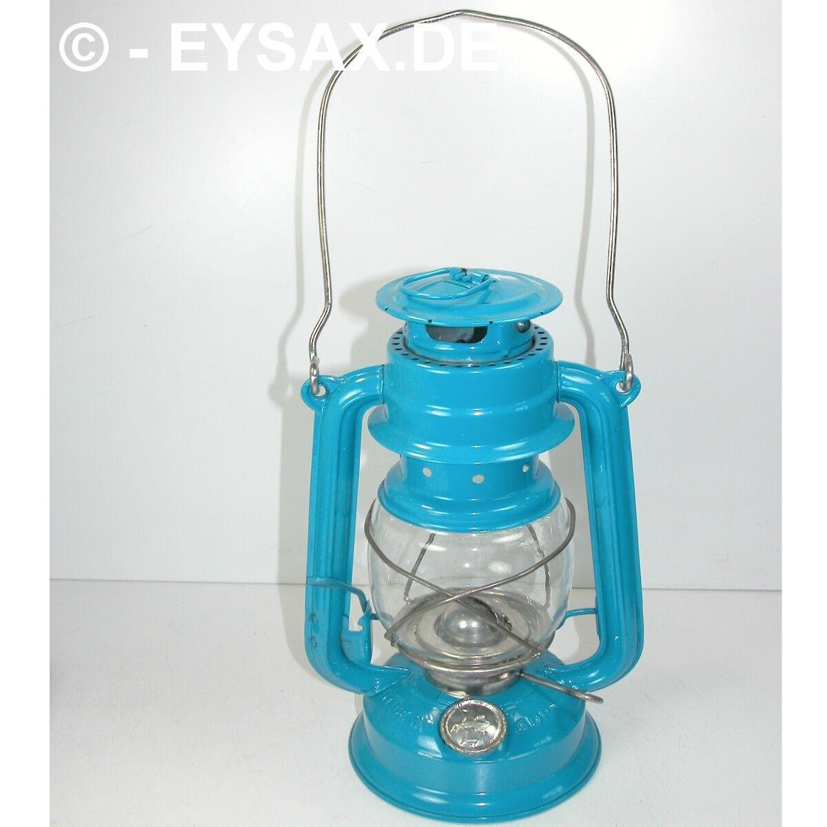 Original DDR BAT Petroleumlampe Sturmlaterne No158 5 incl.Fledermaus FARBE BLAU  | Ermäßigung