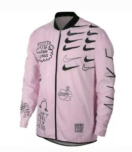 Details about Nike Nathan Bell Printed Running Jacket mens pink foam Size L  (AJ7759-663) New