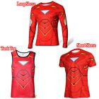 Mans Hero Batman Spiderman T-Shirts Cycling Jogger Jersey Gym Sports Wear Tops