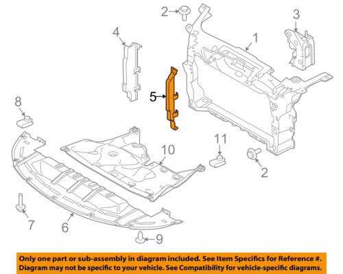 FORD OEM Radiator Core Support-Air Baffle Duct Deflector Left AA5Z8311A