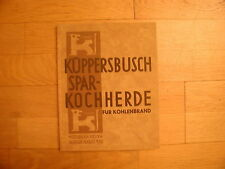 Küppersbusch Spar-Kochherde für Kohlenbrand Musterbuch 1932 Gelsenkirchen