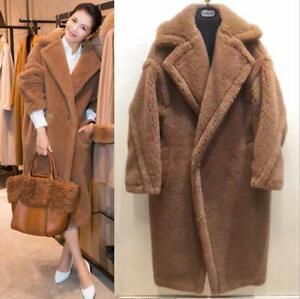 new style crazy price half off Womens Teddy Bear Feel Oversized Faux fur Coat Long Parka coats ...