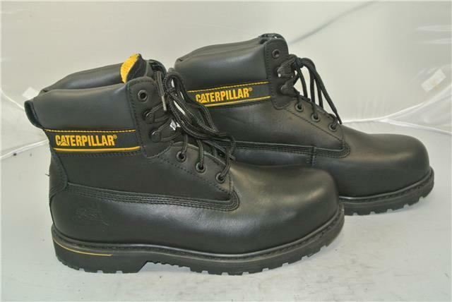 CATERPILLAR noir cousu bottines (UK9) steel toe cap goodyear cousu noir construction fdeb8d