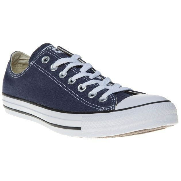New Homme Converse Bleu All Star Ox Canvas Trainers Lace Up
