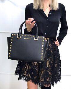 Michael-Kors-Selma-Satchel-Stud-Medium-Saffiano-Leather-Studded-Bag-Black