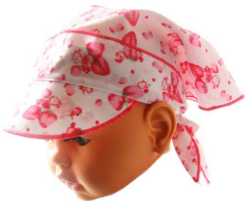 Kopftuch Baby Kinder Sommer Mütze Mützchen Kopfbedeckung Bandana mit Gummizug
