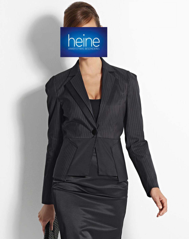 KP 129,90 € SALE/%/%/% NEU!! Schwarz Kurz-Mantel Linea Tesini by heine