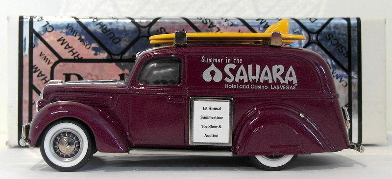 Durham, maßstab 1  43 die 27 - 1939 ford kastenwagen k & r - spielzeug & auction show 1 300