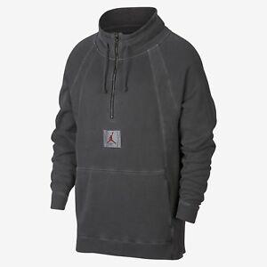 243dc24816a933 Jordan JSW Wings Washed Pullover New Grey Red Men Sportswear 939954 ...